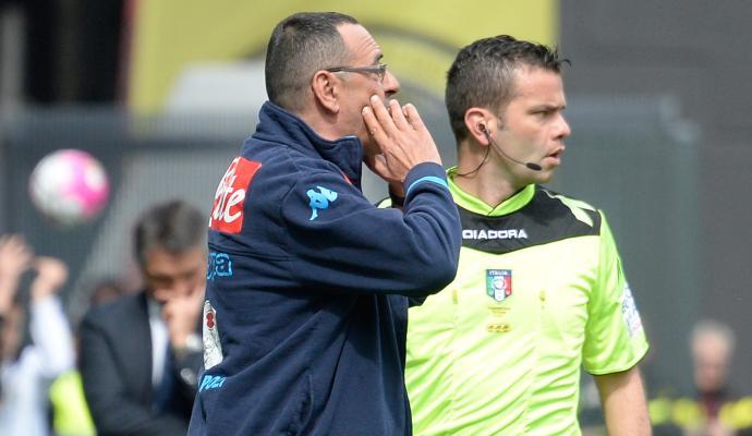 Napoli: anche l'agente di Sarri si scaglia contro Rocchi