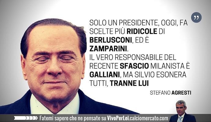 Berlusconi, sembri Zamparini: ridicolo. L'unico da esonerare è Galliani VOTA