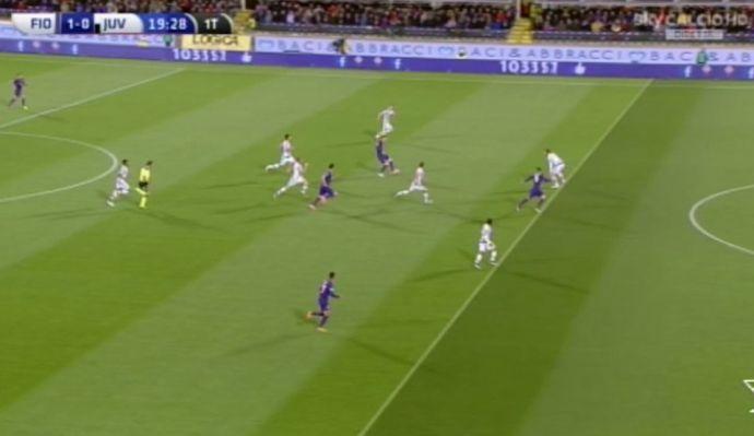 Fiorentina-Juventus, LA MOVIOLA: annullato gol regolare a Bernardeschi! Cuadrado-Kalinic, rigore inesistente