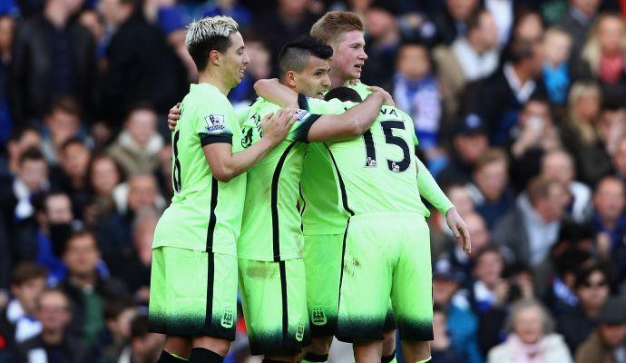 Man City: tris di Aguero e 3-0 al Chelsea