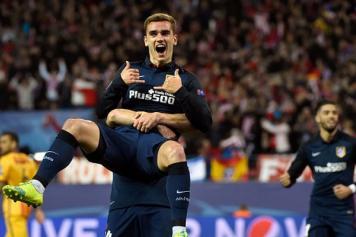 Griezmann Atletico Madrid festeggia