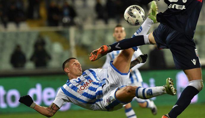 Serie B, lo Spezia ferma il Crotone. Una magia di Lapadula decide Pescara-Cesena