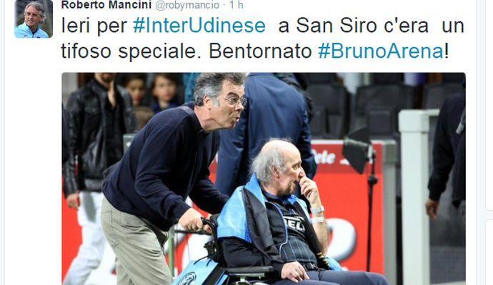 L'Inter abbraccia Bruno Arena. Mancini: 'Bentornato!'