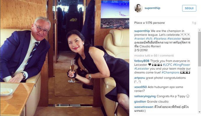 Ranieri se la gode: jet e champagne con la supermanager del Leicester