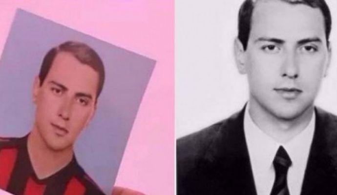 Gaffe Berlusconi: indossa la maglia del Milan, ma è un fotomontaggio
