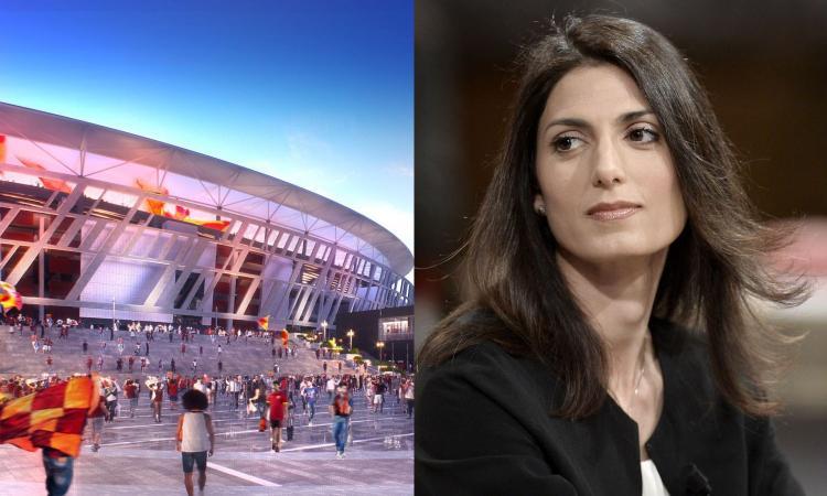 Raggi: 'Lo stadio della Roma si farà, sarà investito un miliardo in 3 anni'