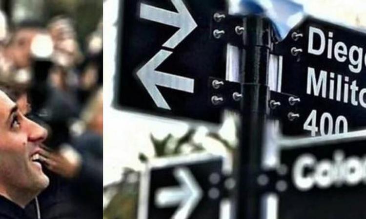 Momenti Di Gioia: ad Avellaneda nasce la via intitolata a Diego Milito VIDEO