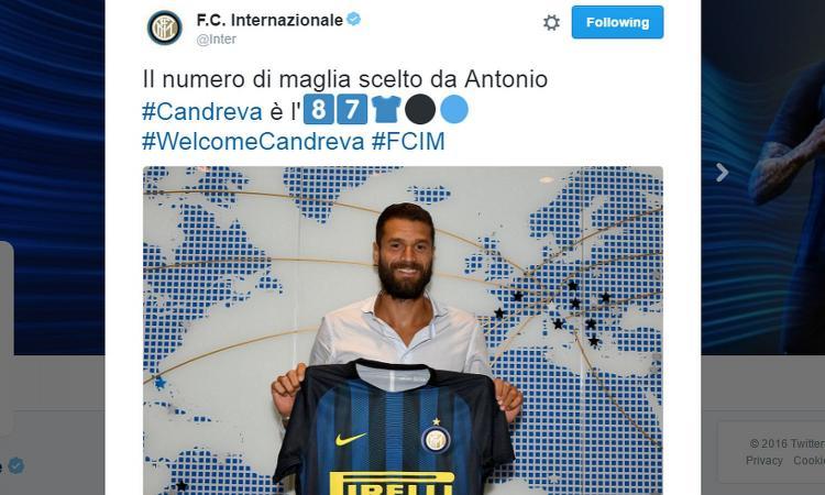 Terza Maglia Inter Milan ANTONIO CANDREVA