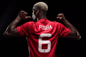 sale retailer 83ee8 6ba9c Manchester United: Pogba chooses the number six shirt ...