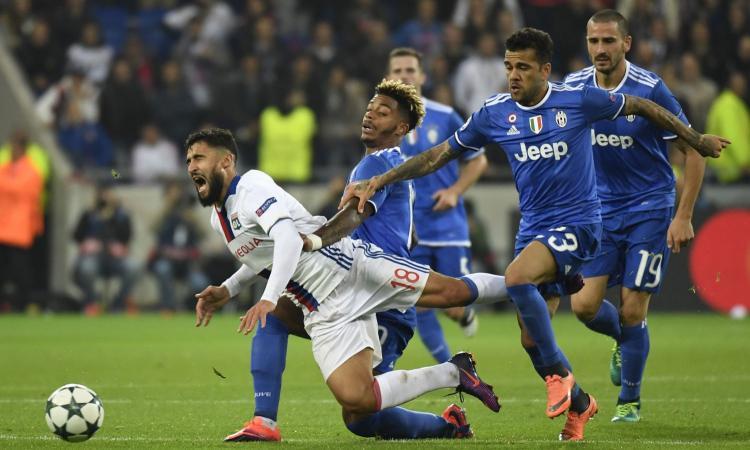 Lione-Juventus, la moviola: giusto il rosso a Lemina, ne manca uno a Darder