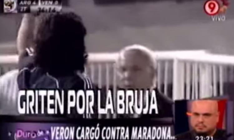 VIDEO Quella volta che Maradona difese Veron con l'Argentina