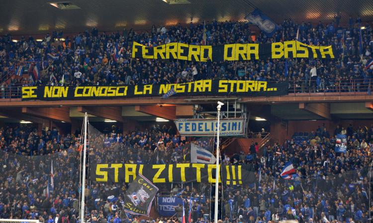 Sampdoria, oggi la contestazione a Ferrero