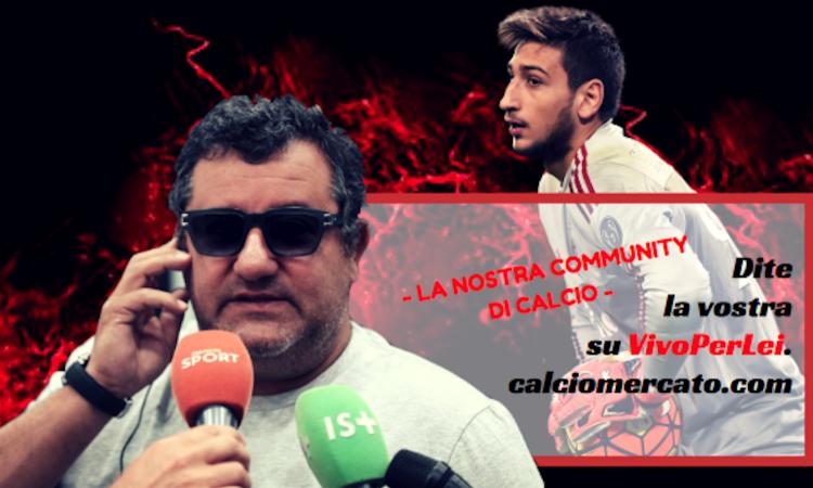 Raiola su Donnarumma: 'Un grande Milan per lui? No, una grande squadra'