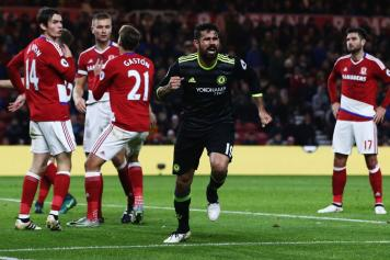 diego costa, chelsea, gioia, middlesbrough, 2016/17