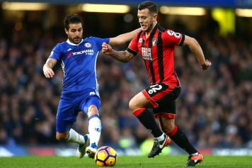 fabregas, chelsea, wilshere, bournemouth, 2016/17