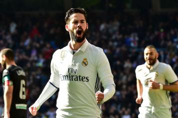 Isco esulta Real Madrid