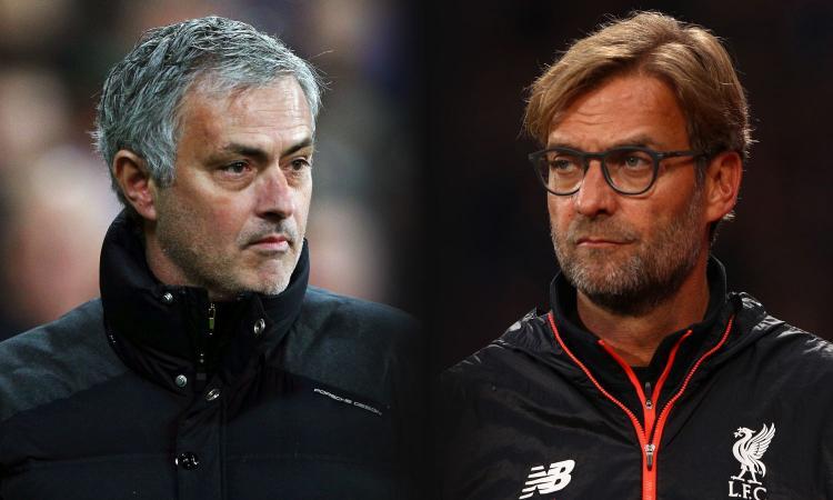 United-Liverpool è Mourinho contro Klopp: lo Special One sfida la sua bestia nera