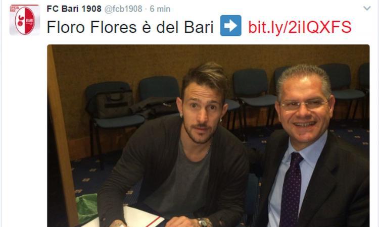 Bari, UFFICIALE: ecco Floro Flores