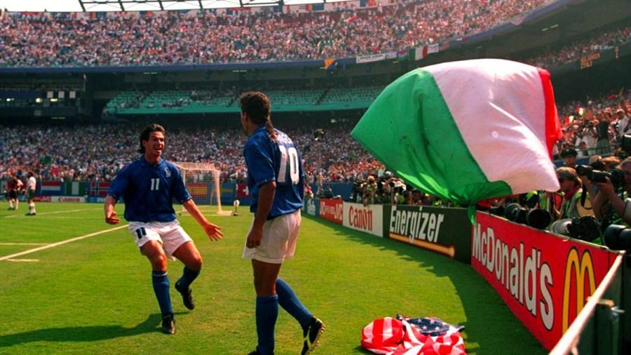A testa alta, come quella volta con Roberto Baggio