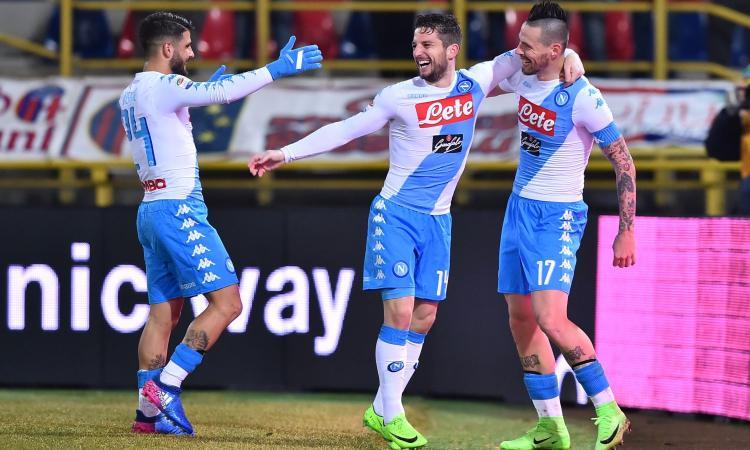 Empoli-Napoli 2-3: il tabellino
