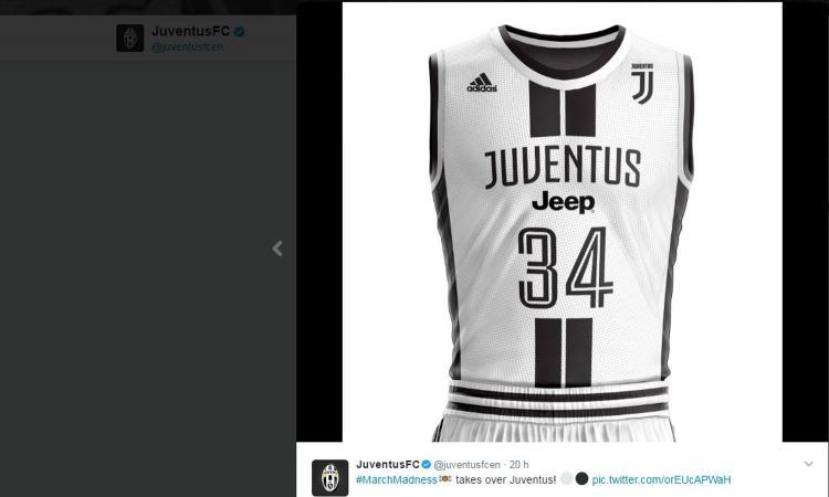078f517a5 La Juventus si dà al basket! Ecco la maglia FOTO