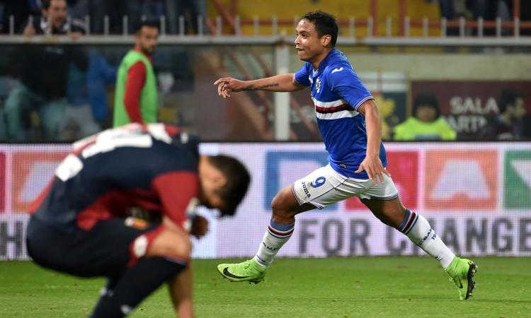 Sampdoria, Muriel scatena l'asta: 'Ho offerte da Juve, Inter, Milan e Roma'