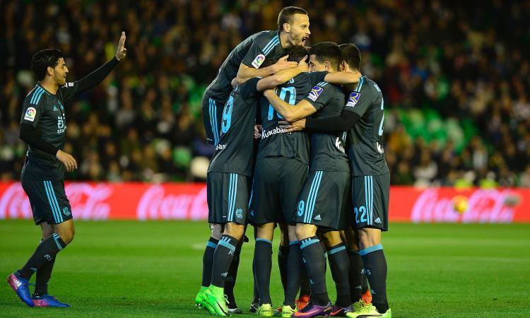 Liga, vittoria e quarto posto per la Real Sociedad: Betis ko 3-2
