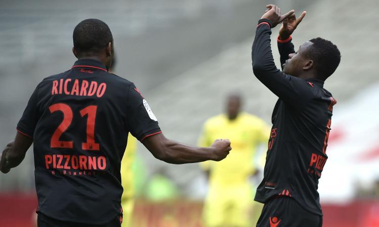 Ligue 1: Nantes-Nizza 1-1. Crolla il Guingamp, manita Bordeaux VIDEO