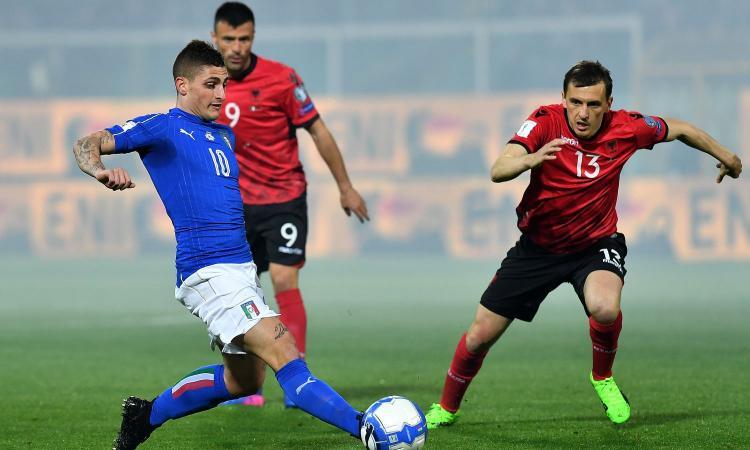 Italia-Albania, le pagelle di CM: il faro è Verratti; bene Immobile, lotta e segna
