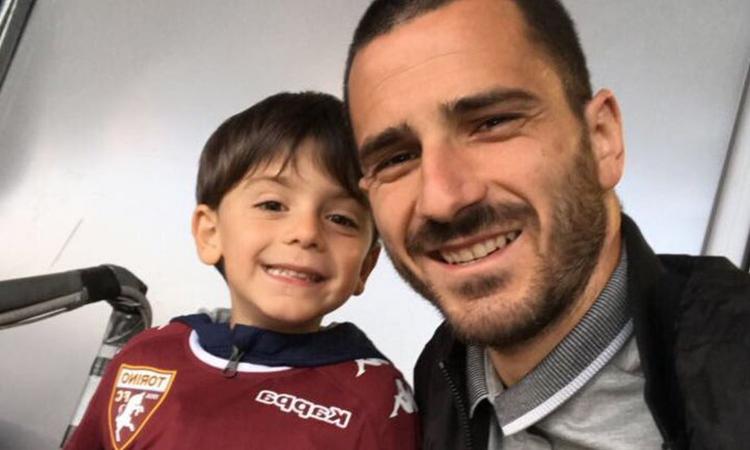 Derby in casa Bonucci: il piccolo Lorenzo gioca col Torino contro la Juve