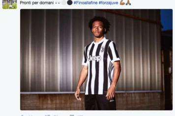 huge selection of b39c1 17e86 Cuadrado wrongly posts pic of 2017-18 Juve jersey | English ...