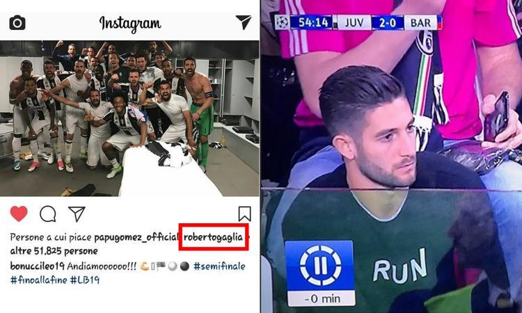 Inter, Gagliardini ci ricasca e mette 'mi piace' al post vittoria di Bonucci FOTO
