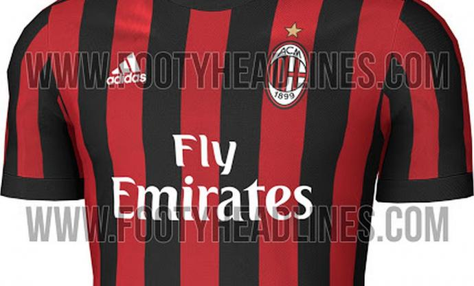 competitive price ead3e 835e8 In picture: AC Milan's 2017/18 home kit leaked | English ...