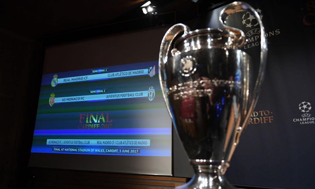Champions League: ecco i sorteggi della fase a gironi