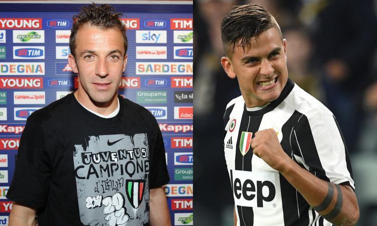 Del Piero e la 10 a Dybala: 'Goditela da juventino vero e facci divertire...' e lui gli risponde: 'Un onore per me' FOTO
