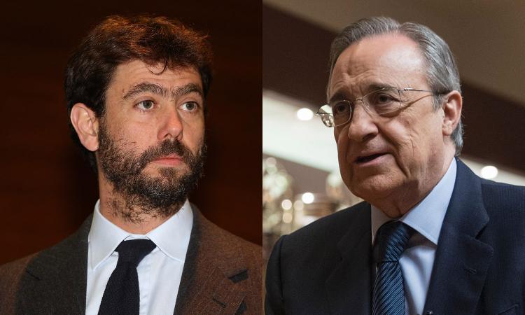 Florentino Perez tre ore nella sede della Juve: incontro con Agnelli tra politica e mercato