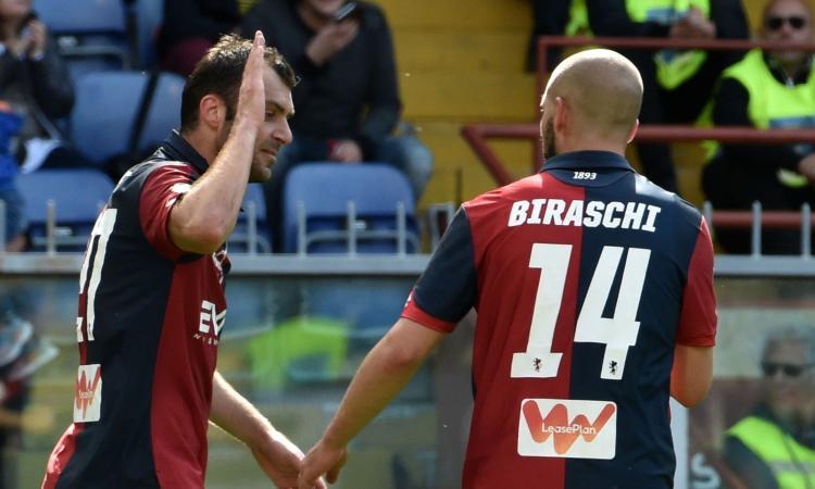 Genoa, doppia tegola in vista del Torino: fuori Pandev e Biraschi