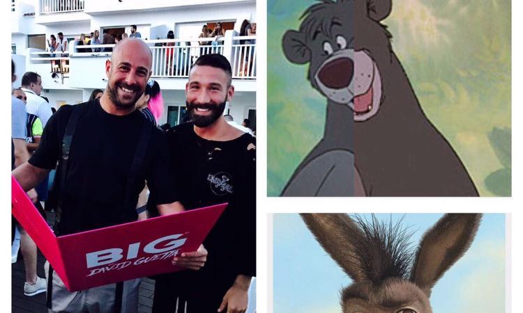Napoli: Reina e Tonelli in crociera, come Baloo e Ciuchino FOTO