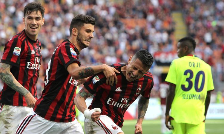 Milan, Romagnoli in gruppo