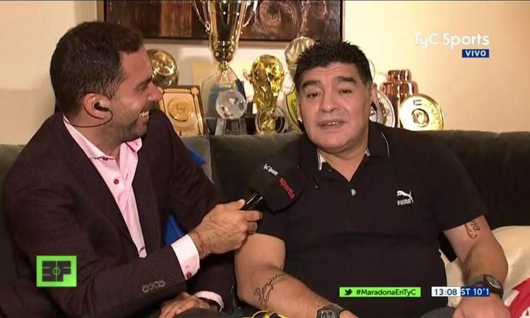 Maradona contro tutti: 'Dani Alves è un cogl...e, Icardi in nazionale è follia'