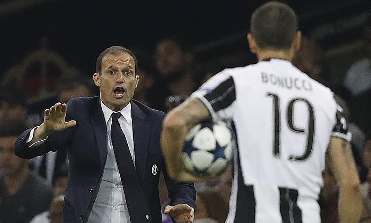 Juve, spogliatoio bollente a Cardiff: Bonucci contro Allegri e Barzagli