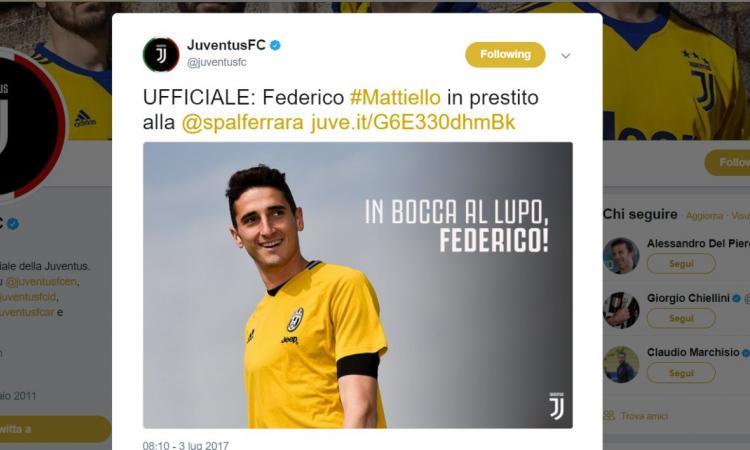 Spal, Mattiello: 'Rinato grazie alla Juve, e un giorno tornerò'