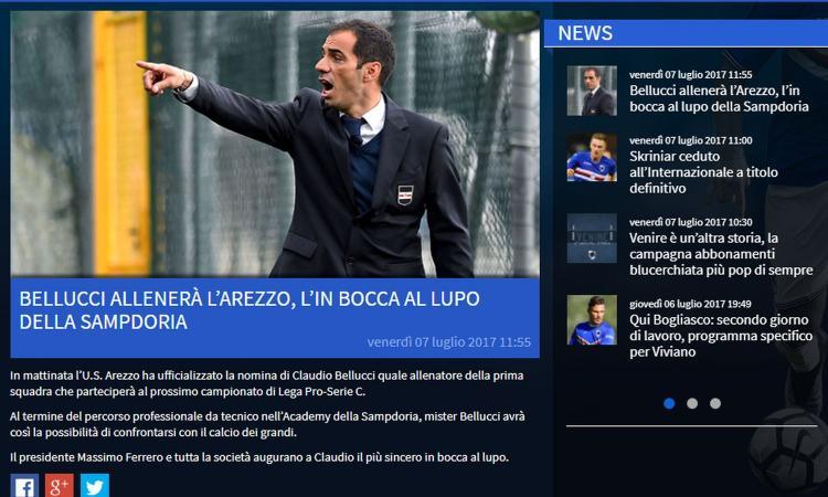 Sampdoria, UFFICIALE: Bellucci nuovo allenatore dell'Arezzo
