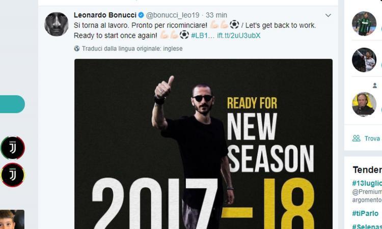 Botta e risposta social: Bonucci si dimentica la Juve, che risponde: 'Ecco la BBC'