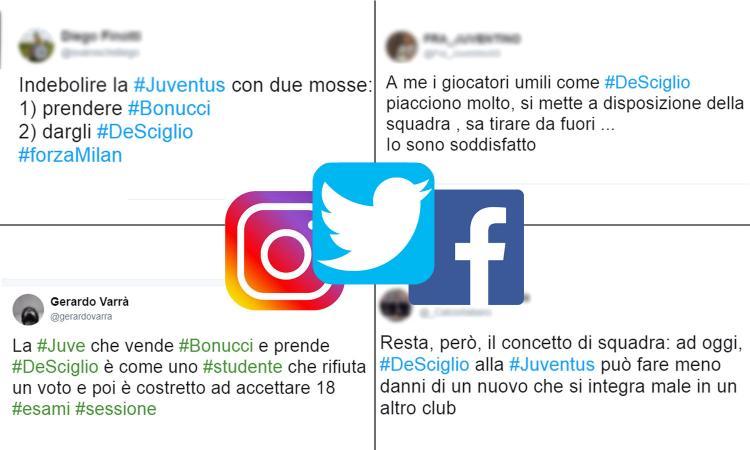 La Juve a un passo da De Sciglio ma sul web i tifosi si dividono fra insulti e speranze FOTO
