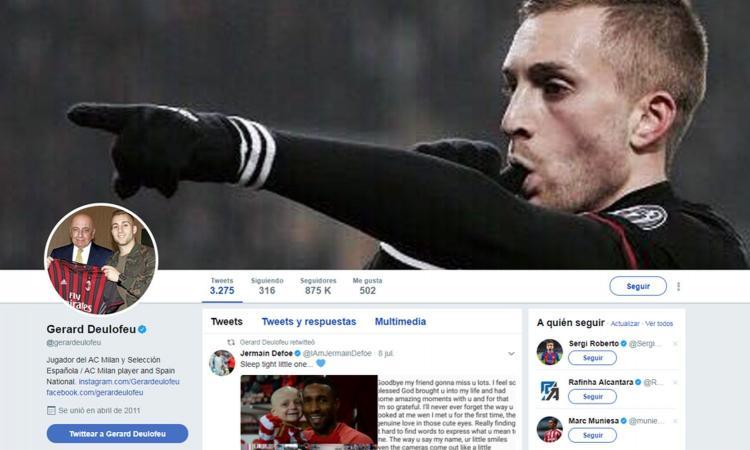 Deulofeu è del Barcellona, ma su Twitter è ancora un giocatore del Milan...
