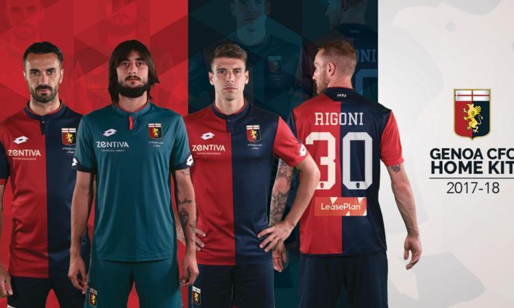 Genoa, presentate le maglie 2017-18
