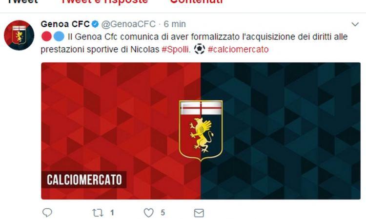Genoa, Spolli: 'Qui si vive il calcio come a Rosario. Quel gol di Boselli...'
