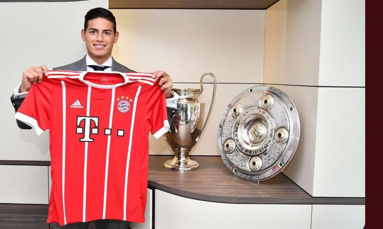 James Rodriguez macchina da marketing: già esaurite le sue magliette del Bayern