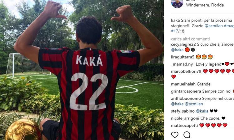 Milan, Kakà in rossonero: 'Pronto per la nuova stagione' FOTO